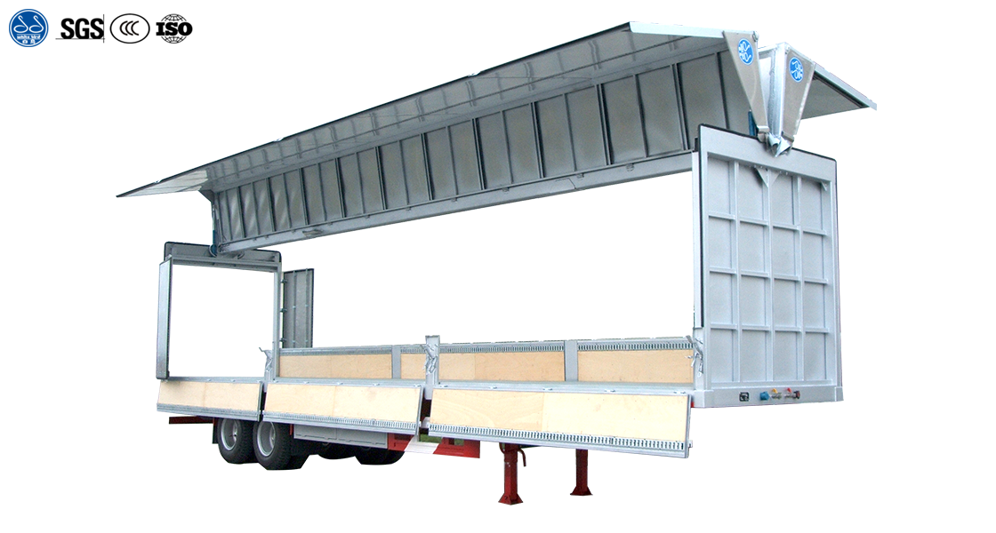 Two Axle Wing Van Semi Trailer