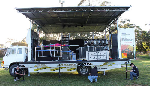 Swan Mobile Stage Truck Has Been Exported to South Africa
