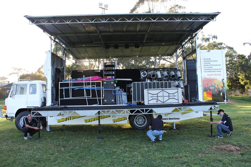 mobile stage truck exported to south africa